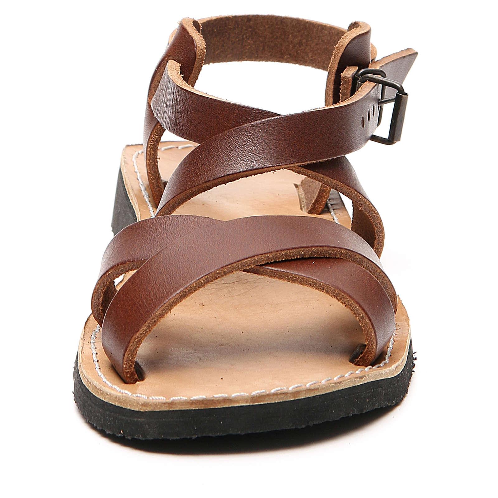 Sandales franciscaines mod. Sinaia cuir Moines de Bethléem 4