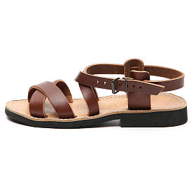 Sandales franciscaines mod. Sinaia cuir Moines de Bethléem s8