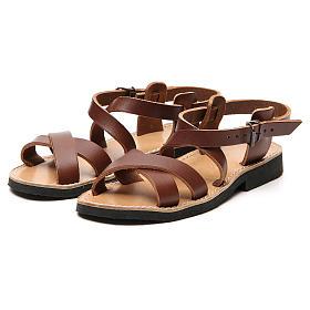 Sandales franciscaines mod. Sinaia cuir Moines de Bethléem s11