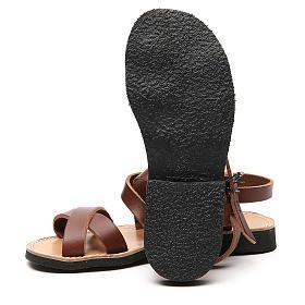 Sandales franciscaines mod. Sinaia cuir Moines de Bethléem s12