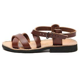 Sandales franciscaines mod. Sinaia cuir Moines de Bethléem s1