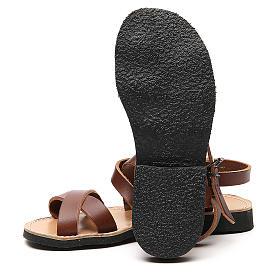 Sandales franciscaines mod. Sinaia cuir Moines de Bethléem s6