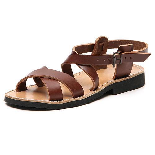 Sandales franciscaines mod. Sinaia cuir Moines de Bethléem 7