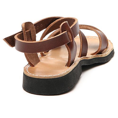 Sandales franciscaines mod. Sinaia cuir Moines de Bethléem 9