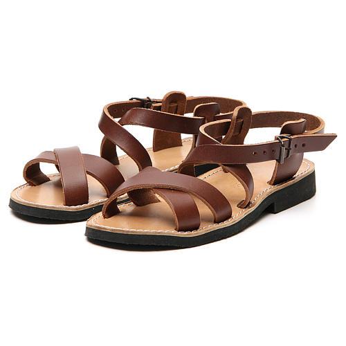 Sandales franciscaines mod. Sinaia cuir Moines de Bethléem 11