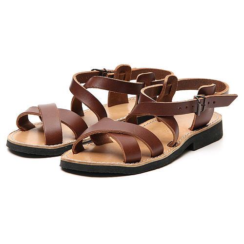 Sandales franciscaines mod. Sinaia cuir Moines de Bethléem 5