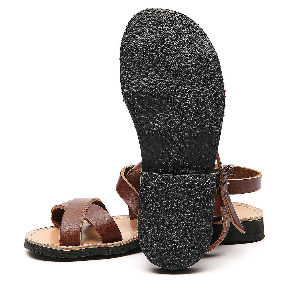 Sandały franciszkańskie model Sinaia skóra Mnisi Bethleem 4