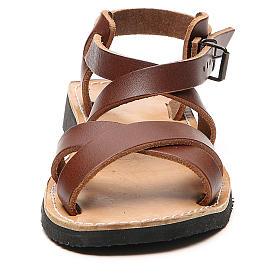 Sandały franciszkańskie model Sinaia skóra Mnisi Bethleem s4