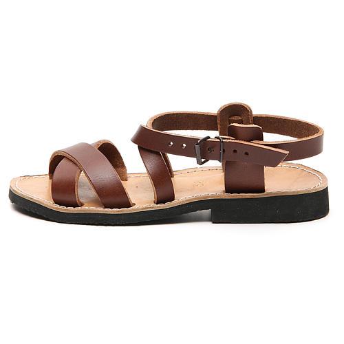 Sandały franciszkańskie model Sinaia skóra Mnisi Bethleem 8
