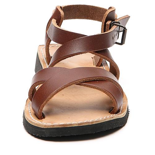 Sandały franciszkańskie model Sinaia skóra Mnisi Bethleem 10