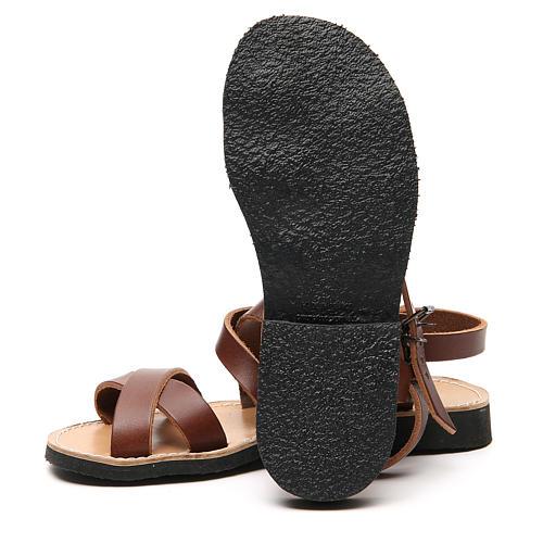 Sandały franciszkańskie model Sinaia skóra Mnisi Bethleem 12