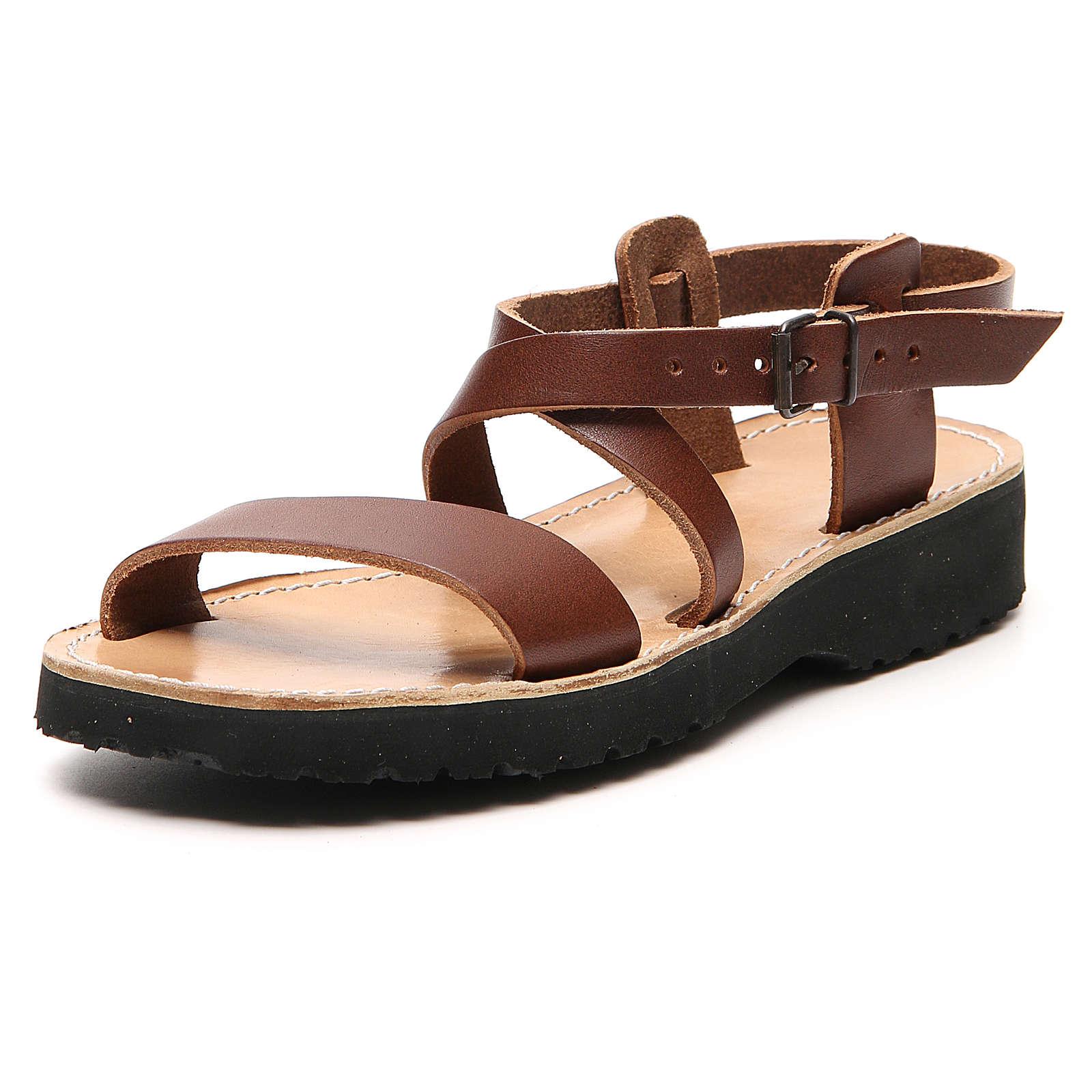 Sandales franciscaines mod. Nazareth cuir Moines de Bethléem 4