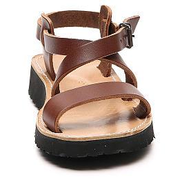 Sandales franciscaines mod. Nazareth cuir Moines de Bethléem s4