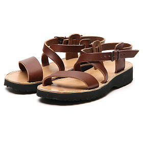 Sandales franciscaines mod. Nazareth cuir Moines de Bethléem s5