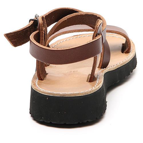 Sandales franciscaines mod. Nazareth cuir Moines de Bethléem 9