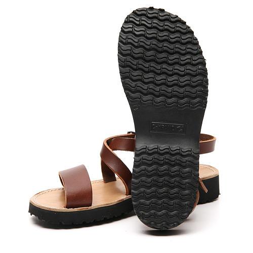 Sandales franciscaines mod. Nazareth cuir Moines de Bethléem 12