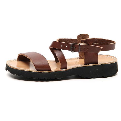 Sandales franciscaines mod. Nazareth cuir Moines de Bethléem 1