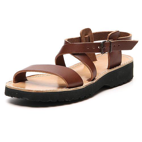 Sandales franciscaines mod. Nazareth cuir Moines de Bethléem 2