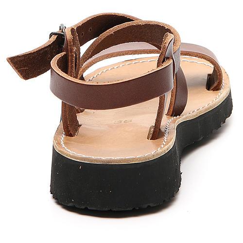 Sandales franciscaines mod. Nazareth cuir Moines de Bethléem 3