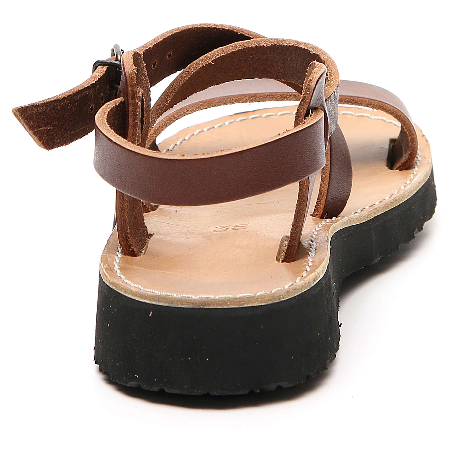 Sandały franciszkańskie model Nazareth skóra Mnisi Bethleem 4
