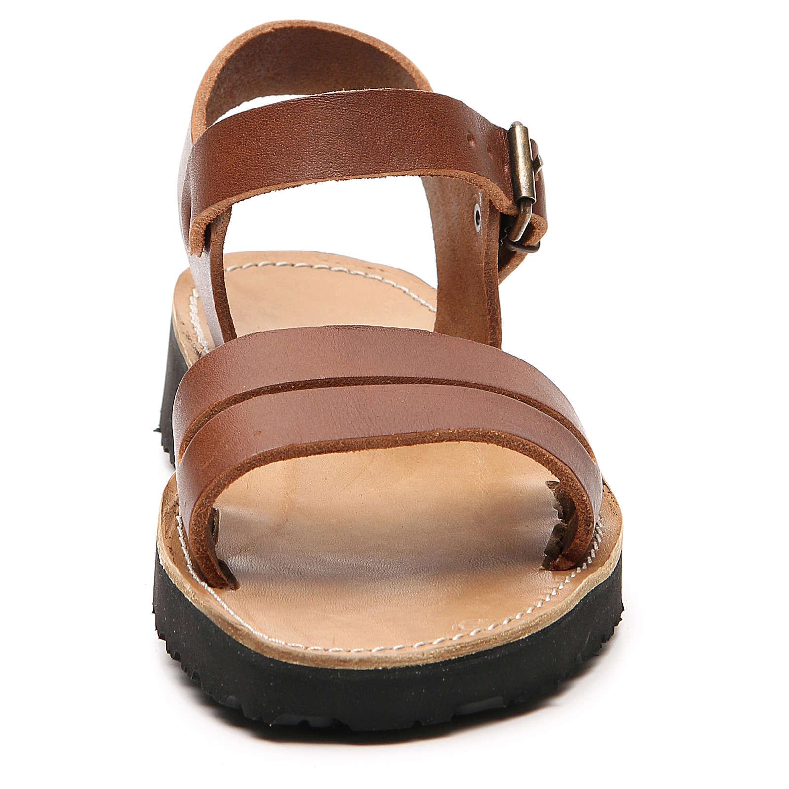 Franziskaner-Sandalen aus Leder Modell Bethléem hergestellt von den Mönchen von Bethlehem 4