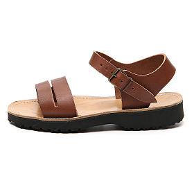 Franziskaner-Sandalen aus Leder Modell Bethléem hergestellt von den Mönchen von Bethlehem s1
