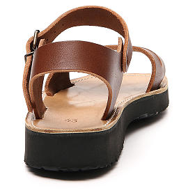 Franziskaner-Sandalen aus Leder Modell Bethléem hergestellt von den Mönchen von Bethlehem s3