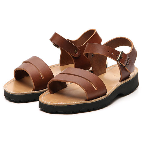 Franciscan Sandals in leather, model Bethléem 11