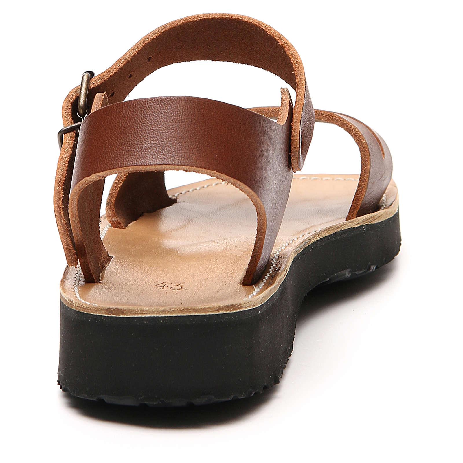 Sandalias franciscanas de piel, modelo Belén, Monjes del Atelier 4