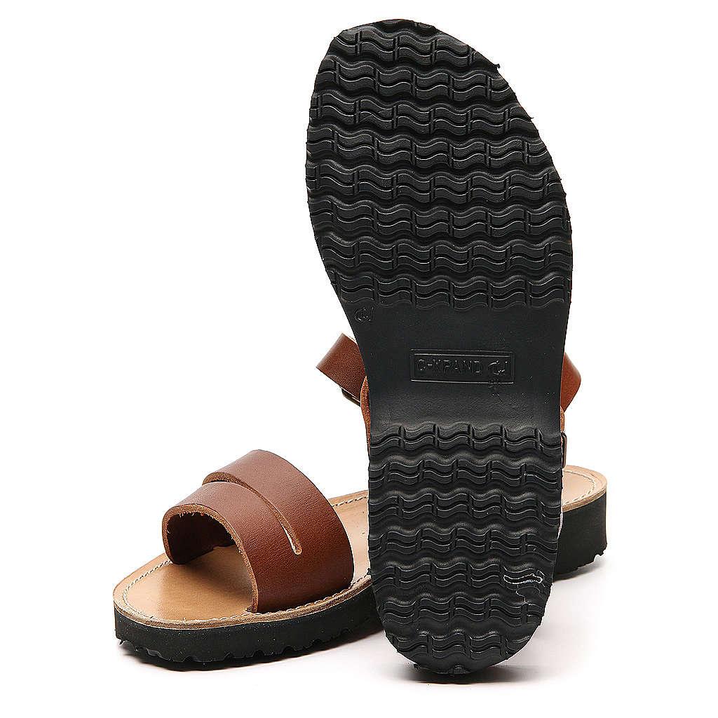Sandales franciscains mod. Bethléem cuir Moines de Bethléem 4