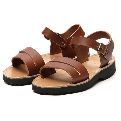 Sandales franciscains mod. Bethléem cuir Moines de Bethléem 11