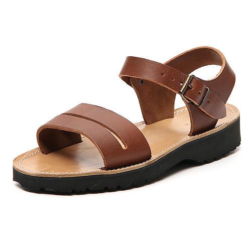 Sandales franciscains mod. Bethléem cuir Moines de Bethléem 2
