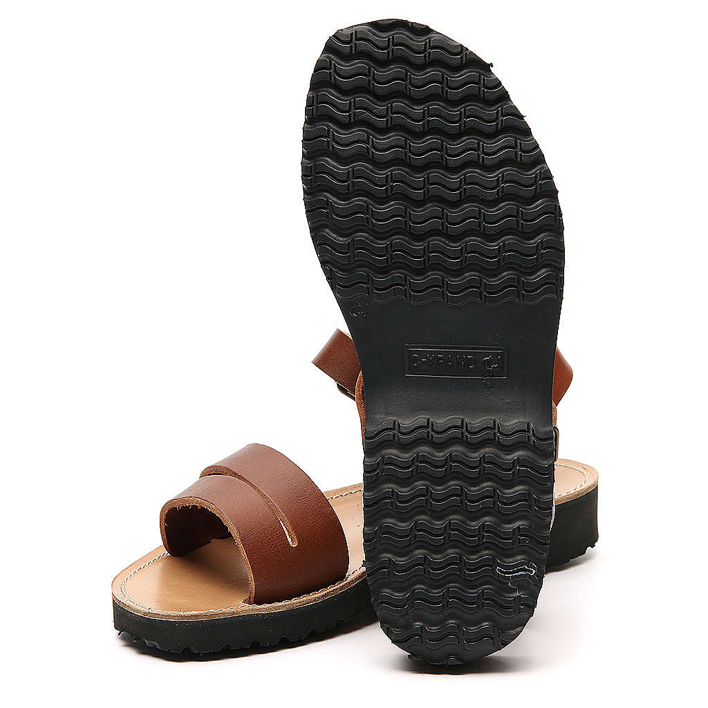 Franciscan Sandals in leather, model Bethléem 4