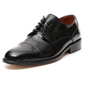 Shoes in polished real leather, toe cut s4