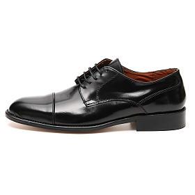 Zapatos de cuero abrasivado negro punta cortada s1