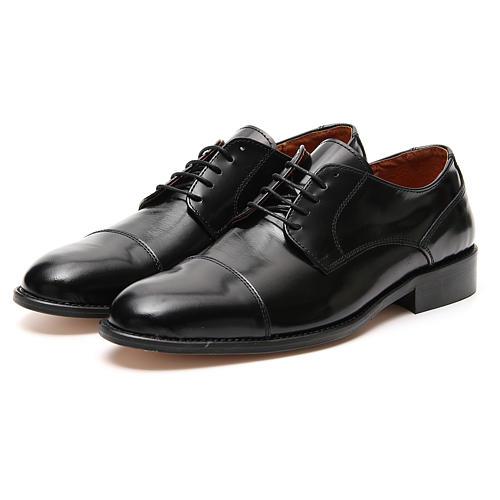 Zapatos de cuero abrasivado negro punta cortada 5