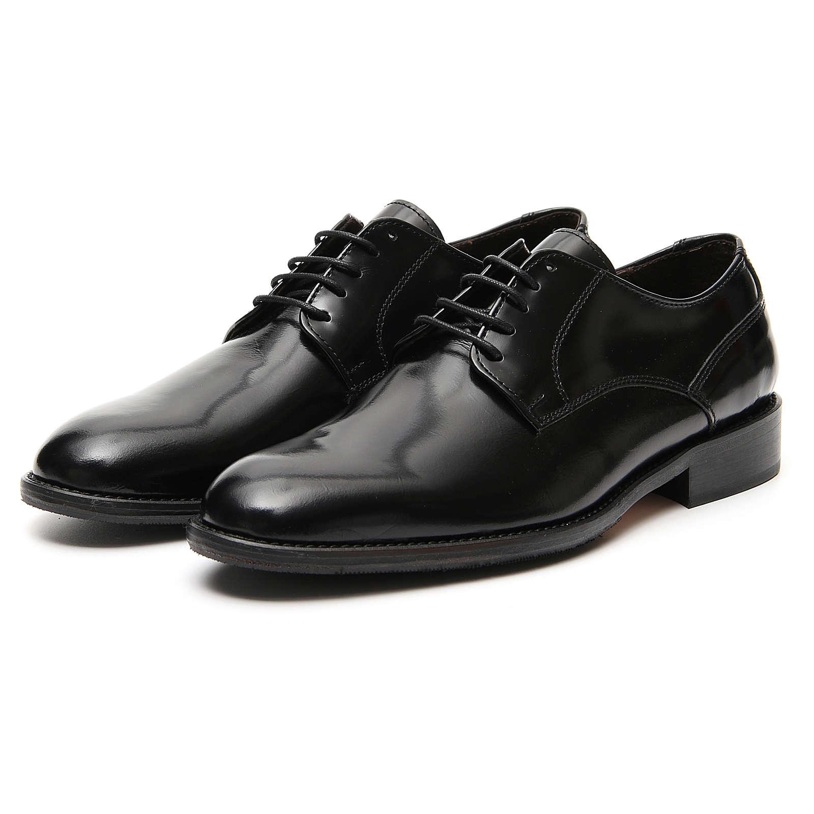 Zapatos de cuero abrasivado negro liso 4
