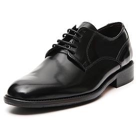 Zapatos de cuero abrasivado negro liso s4