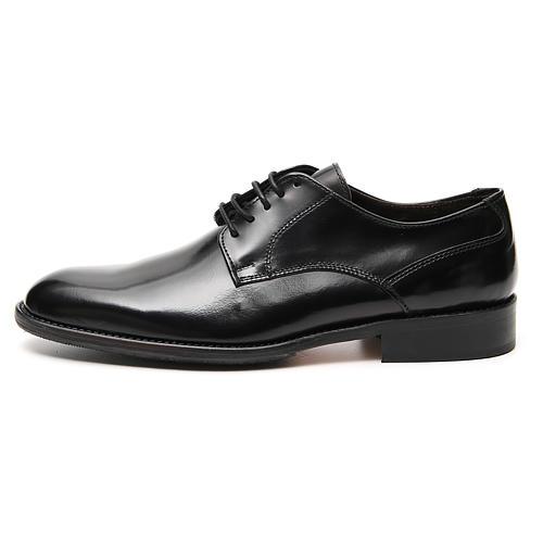 Zapatos de cuero abrasivado negro liso 1