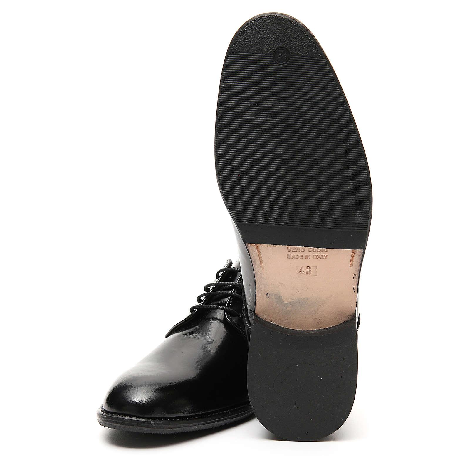 Scarpe vera pelle abrasivato nero liscio 4