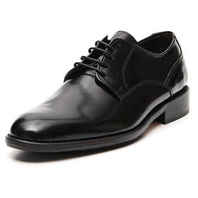 Shoes in polished real black leather s4