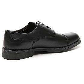 Zapatos verdadero cuero negro opaco con punta cortada s3