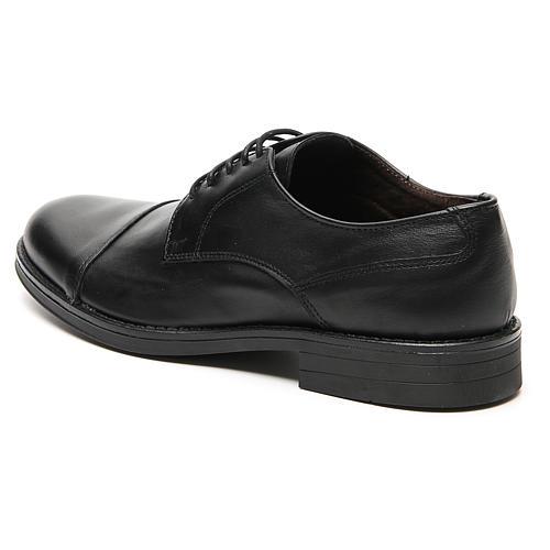 Zapatos verdadero cuero negro opaco con punta cortada 2