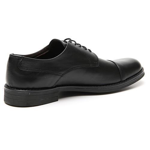 Zapatos verdadero cuero negro opaco con punta cortada 3