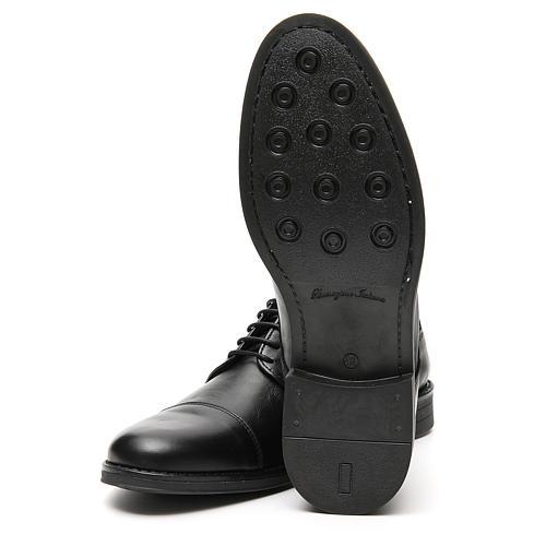 Zapatos verdadero cuero negro opaco con punta cortada 6