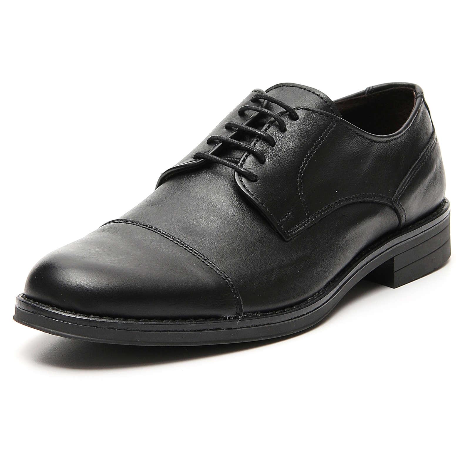 Chaussures cuir véritable noir mat coupe à pointe 4