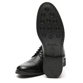 Chaussures cuir véritable noir mat coupe à pointe s6
