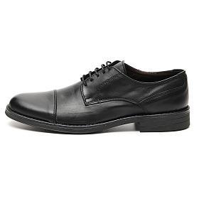 Scarpe vera pelle nero opaco taglio in punta s1