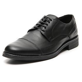 Scarpe vera pelle nero opaco taglio in punta s4