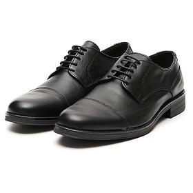 Scarpe vera pelle nero opaco taglio in punta s5